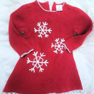 4/$25 Hanna Andersson Red Snowflake Sweater